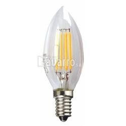 BOMBILLA LED FILAMENTO VELA 3W 3000K E14